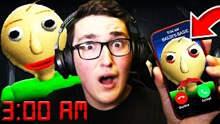 Download Calling BALDI'S BASIC AT 3:00AM! **HE ANSWERED!** Video