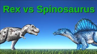 Download Rex (level 1) vs Spinosaurus (level 10)    ARK: Survival Evolved Video