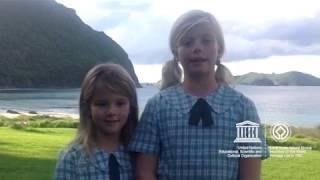 Download Hailey and Zoe #MyOceanPledge Lord Howe Island Group World Heritage marine site Video