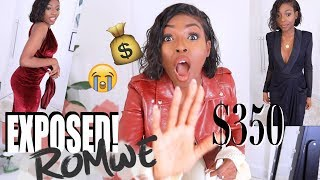 Download I SPENT $375 ON ROMWE - AND NOW THEY HAVE BEEN EXPOSED, MY CONSPIRACY WAS RIGHT! Video