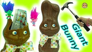 Download Giant Chocolate Bunny with Surprise Blind Bags + Easter DIY Boss Baby & Trolls Eggs Video