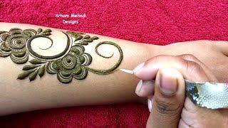 Download Full Hand Easy and Beautiful Mehndi Design for Hand || Arham Mehndi Designs Video