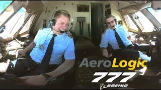 Download STUNNING PILOTS!!! Aerologic Boeing 777F ULTIMATE COCKPIT MOVIE to LEJ [AirClips full flight series] Video