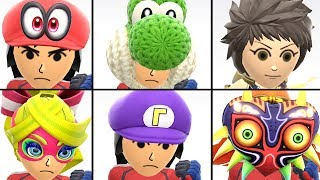 Download All Mii Costumes in Super Smash Bros Ultimate Unlocked + Rex DLC Outfit | Mii Fighters Customization Video