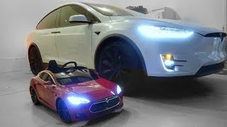 Download Bought my 7 yr old Daughter a TESLA! Video