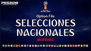Download Option File del MUNDIAL RUSSIA 2018 para PES2018 Video