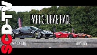 Download DRAG RACE LaFerrari v P1 v 918 Spyder | 0-186 mph [Part 3/3] Video