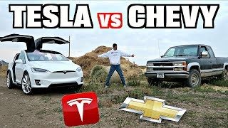 Download Tesla Model X vs. Pickup Truck...The Ultimate Ranch Vehicle?? Video