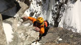 Download Alpinism and climbing at digital crack (8a), Mont-Blanc massif Video