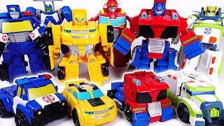 Download Dinosaur set a fire! Go! Transformers Rescue bots Optimus Prime, Bumblebee! - DuDuPopTOY Video