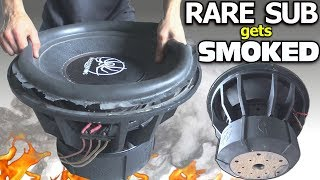 Download BLOWING a $1000 SUBWOOFER... in 3 Minutes?? RARE 18″ Sub BLOWOUT | BASS Speaker TEARDOWN!!! Video