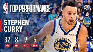 Download Stephen Curry Leads All Scorers With 32 Points In Victory Over OKC | 2018-2019 NBA Opening Night Video