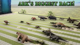 Download Which one is ARK's FASTEST Creature? - GIANT RACE with all Dinosaurs || Cantex Video