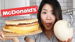 Download I Tried To Make A Giant Ostrich Egg McMuffin Video