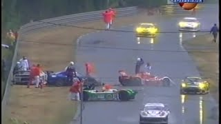 Download 24h of Le Mans 2001 Rain Chaos Huge crash Speedvision Video