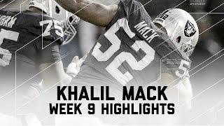 Download Khalil Mack Stops Denver with 2 Sacks | Broncos vs. Raiders | NFL Week 9 Player Highlights Video