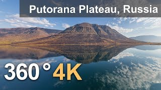 Download 360°, Putorana Plateau, Russia. 4K aerial video Video