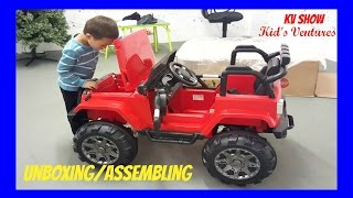 Download Picking Up The Toy Surprise! Unboxing/Assembling Power Wheel Ride On Jeep Wrangler w/ Remote Control Video