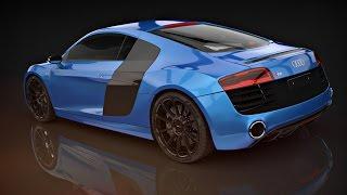 Download Audi R8 v10 plus   3Ds Max Timelapse Video