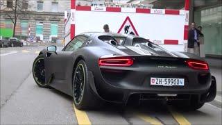 Download Matt Black Porsche 918 Spyder with Weissach Package in Zürich: Startup & Revs! Video