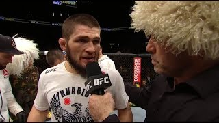 Download UFC 223: Khabib Nurmagomedov Octagon Interview Video