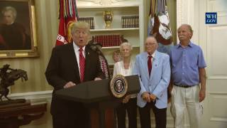 Download President Trump Visits with Survivors from the USS Arizona - 7/21/17 Video