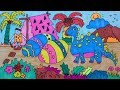 Download Coloring Dinosaur for kid วาดและระบายสีไดโนเสาร์, ไข่ไดโนเสาร์ สำหรับเด็ก Video