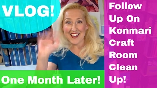 Download Vlog: Konmari Craft Room Declutter {one month follow up) Video