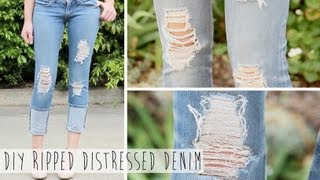 Download Salvage Your Jeans | DIY Ripped Distressed Denim Video