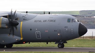 Download RAF A400 ZM400 short runway takeoff at Dundee Airport 2017 RARE Video