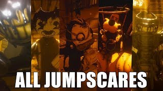 Download ALL JUMPSCARES - Bendy and the Ink Machine (CHAPTERS 1-5) Video
