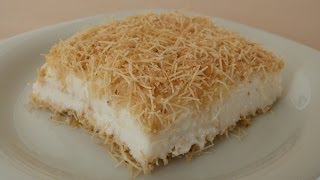 Download Kanafeh with Pudding Recipe | Turkish Dessert Video