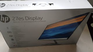Download HP 27es Display unboxing and first look Video