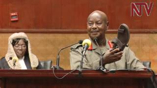 Download President Museveni's lighter moments during budget reading Video