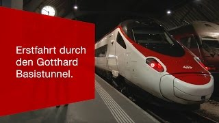 Download Erstfahrt durch den Gotthard Basistunnel. Video