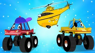 Download Police Cars, Helicopter Jump into the Mud to Save Little Red Truck -Videos for Kids - Car Cartoons Video