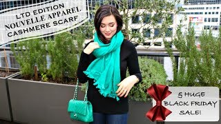 Download HOLIDAY CASHMERE SCARF REVEAL   NOUVELLE PEARL & APPAREL BLACK FRIDAY HUGE SALE Video