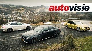 Download Autovisie TV: BMW M3 versus Mercedes-AMG C 63 S versus Alfa Romeo Giulia Q Video