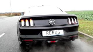 Download Ford Mustang GT 5.0 V8 with REMUS valve exhaust system Video