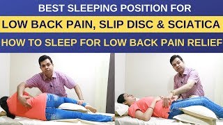 Download How to Sleep with Back pain, Best Sleeping Position for Lower Back Pain and Sciatica, Slip Disc Video