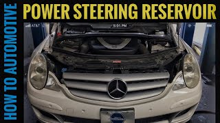 Download How to Reseal the Power Steering Reservoir on a 2006-2012 Mercedes R350 W164 Video