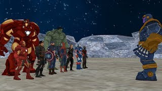 Download Thanos vs Avengers , ( Thanos vs Ironman , Hulk , Captain America , Thor , Spiderman ) Video