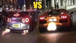 Download Nissan GT-R R35 VS Lamborghini Aventador - SOUND BATTLE!🔥 Video