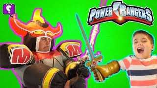 Download POWER RANGERS GIANT MEGA ZORD Adventure! Imaginext Surprise Toys Review with HobbyKidsTV Video