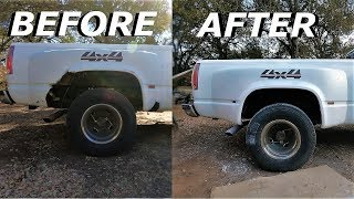 Download Fixing Dually Fenders Using 80$ Worth of Bondo! Video