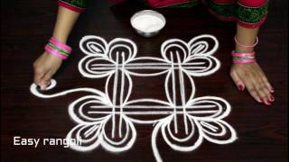 Download free hand swan rangoli designs || birds kolam designs freehand || muggulu designs without dots Video