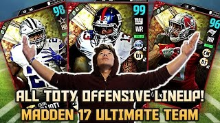 Download ALL 'TEAM OF THE YEAR' OFFENSIVE LINEUP! TOTY GIVEAWAY! MADDEN 17 ULTIMATE TEAM Video