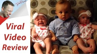 Download Toddler Reacts To Twin Babies (Viral Video) Video