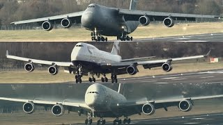 Download Multi-Wheeled Monsters: C-5M 747 & A380 Video