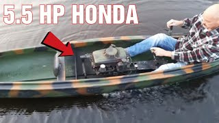 Download Canoe With 5.5HP Motor From A Lawnmower 20KM/H Video